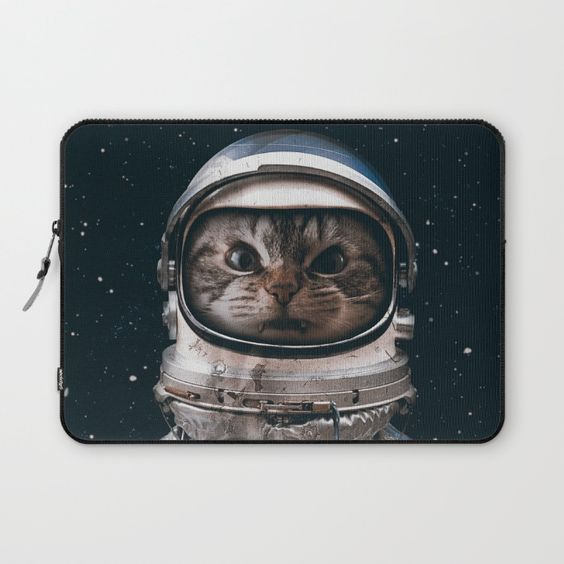 Space catet Laptop Sleeve