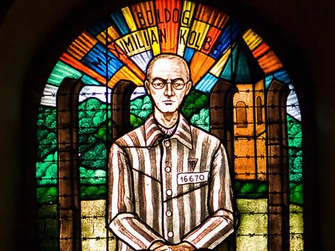 Fr Maximilian Kolbe volunteered to die in someone else's place at Auschwitz. The person whose place he took survived the war.