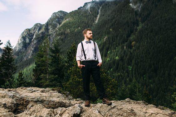 Wild and Organic Mountain Elopement Shoot