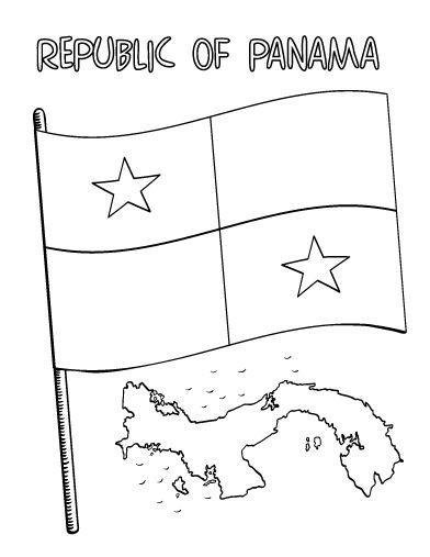 Printable Panama Flag Coloring Page Free PDF Download At Coloringcafe