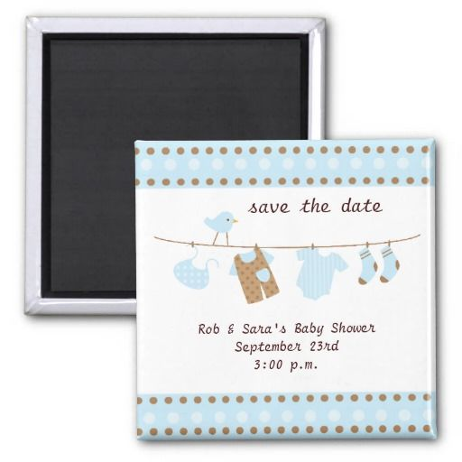 Baby shower save the date