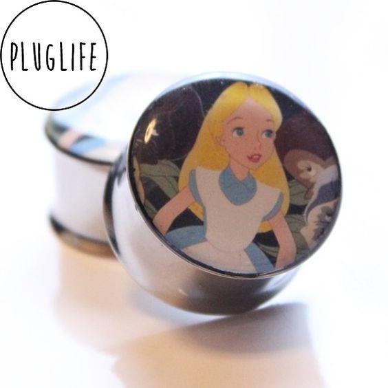 #Aliceinwonderland #plugs #gauges #disney pluglifeco.bigcartel.com