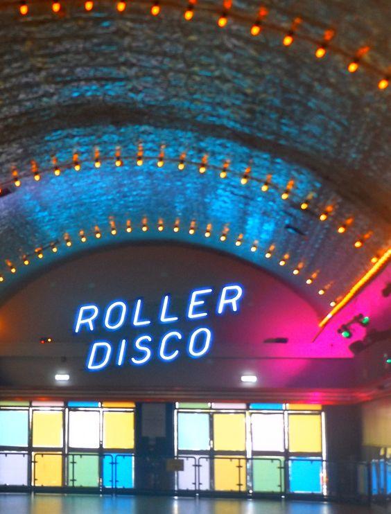 Roller Disco, neon. Dreamland Margate.