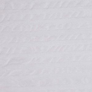 White Striped Sheer Silk Woven