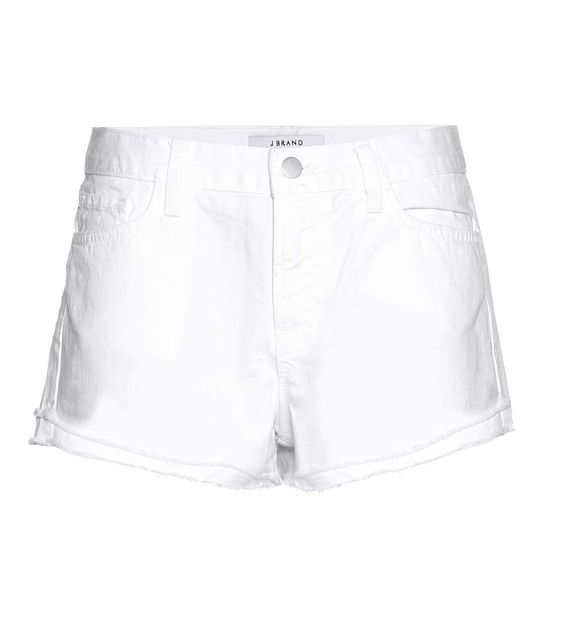 J Brand - Sachi Low-rise denim shorts - Made from white denim with ...
