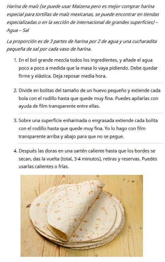 Totillas de maiz mexicanas