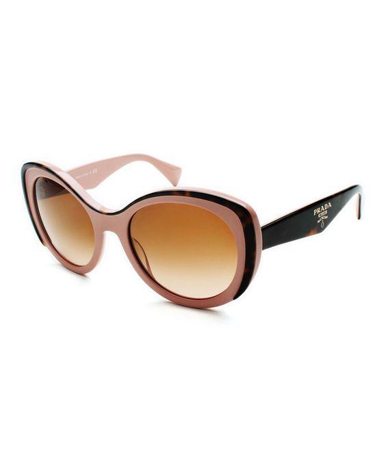 prada wristlet wallet - Love this Prada Pink Havana & Brown Butterfly Cat-Eye Sunglasses ...