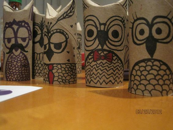 credit to CJuang! Fun Owls from toilet paper tubes!!