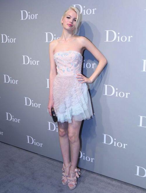 Daphne Groeneveld in Dior