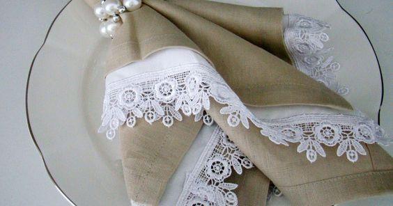 Porta Guardanapos para Casamentos e Eventos em Geral: SOFISTICAÇÃO! APOSTE NOS TONS NEUTROS.