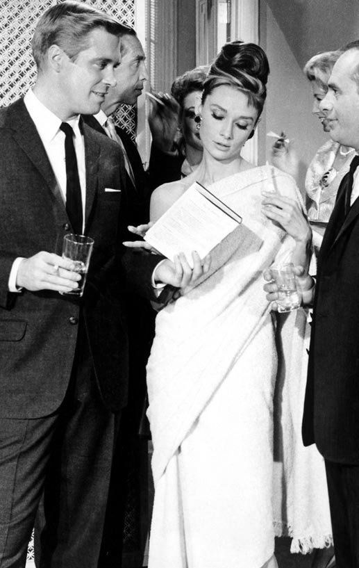 I don't recall Audrey Hepburn wearing a sari in Breakfast at Tiffany's but here's the proof! A great excuse to rewatch.... Was it Givenchy I wonder?