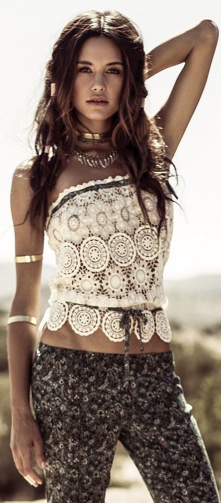 bohemian boho style hippy hippie chic bohème vibe gypsy fashion indie folk look