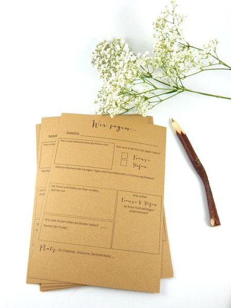 Hochzeitsgästebuch - Gästebuch für Hochzeitsgäste - Fragebogen - ein…