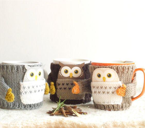 Owl Mug Sweater by mugsweater on Etsy - seriously cute!