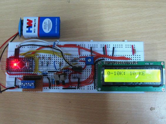 Capacitance measurement with the Arduino Uno PIC