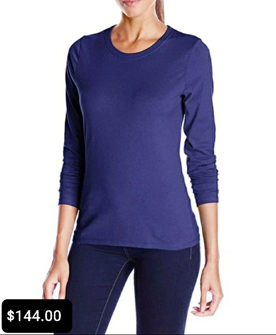 Women S Fashion Pure Color Long Sleeved Knit Top In 2020 Long Sleeve Tees Women Long Sleeve Tshirt Men Women Long Sleeve