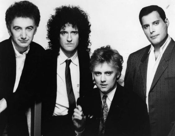 Queen - John Deacon Brian May, Roger Taylor, and Freddie Mercury