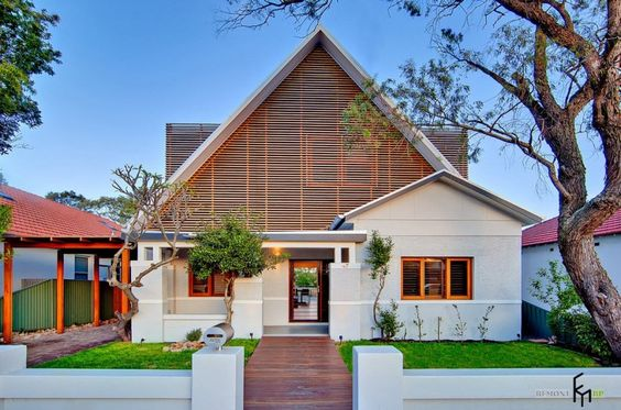 Stunning Modern Design Of Facades And Private Houses With Garden And Green Grass In Front Yard Gorgeous the Modern Design of the Facades of Private Houses With Beautiful Garden Home decoration, Home design http://seekayem.com