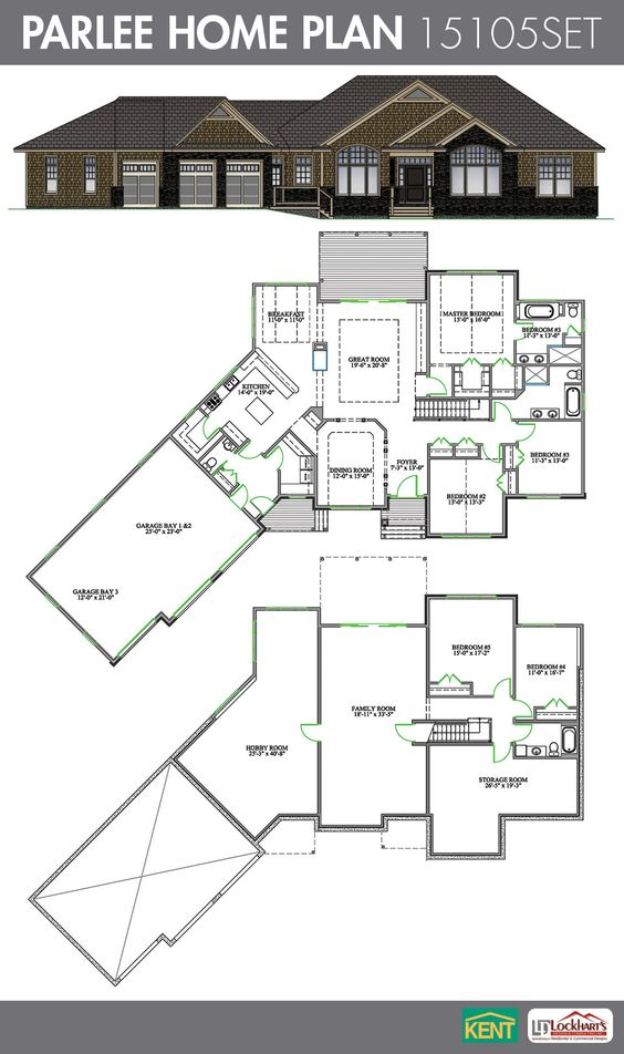 Foyer Closet Crossword : Parlee bedroom bath home plan features foyer