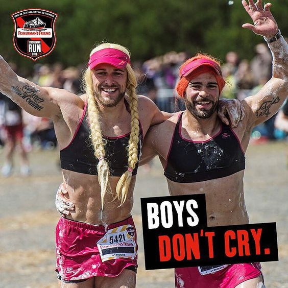 BOYS DON'T CRY! #weeklystatement #fishermansfriend #strongmanrun by strongmanrun