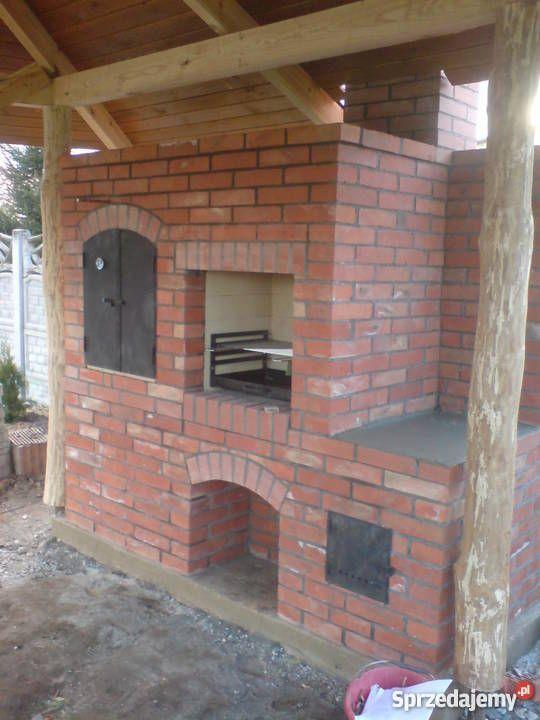 Znalezione Obrazy Dla Zapytania Wedzarnia Ogrodowa Murowana Outdoor Kitchen Outdoor Fireplace Outdoor Inspirations