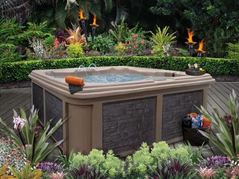 7 Sizzling Hot Tub Designs | Outdoor Design - Landscaping Ideas, Porches, Decks, & Patios | HGTV