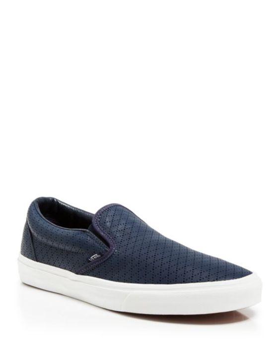 Vans Classic Slip–On Diamond Perforated Sneakers | Bloomingdales's