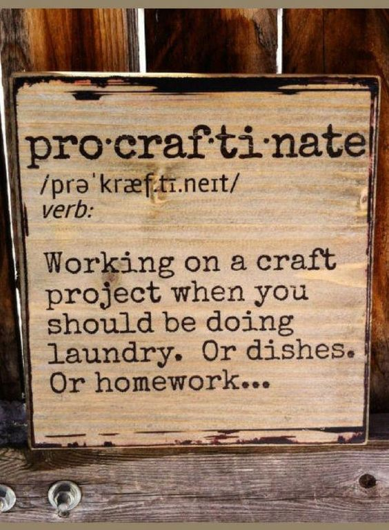 "Ha.. I'm definitely a ""procraftinator""! Procraftinate Definition - Wooden Shelf Decor or Wall Hanging, Wood sign, Home decor, Farmhouse sign, farmhouse decor, rustic sign, rustic decor, gift idea #ad by paige #homedecor"