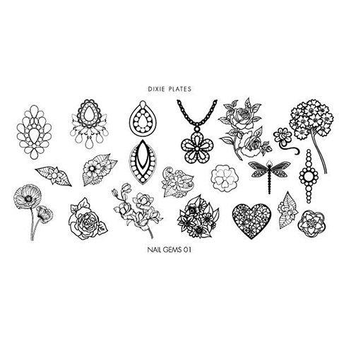 Dixie Plate Nail Gems 01