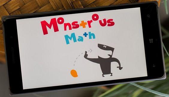 Um jogo educacional chamado Monstrous Math, desenvolvido para o Windows Phone, se apresenta como a alternativa divertida para que as crianças de hoje em dia não sofram o que sofreram as crianças de outras épocas tentando aprender matemática.