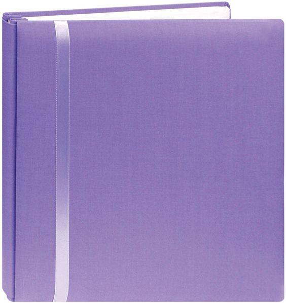 "Pioneer Snapload Scrapbook Cloth w/Ribbon 12""x12"" - Purple"