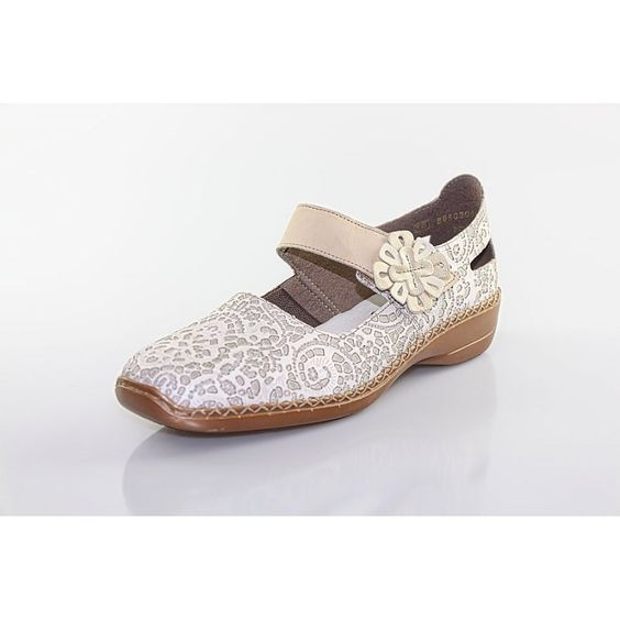 Rieker Damen Slipper beige 41316-60