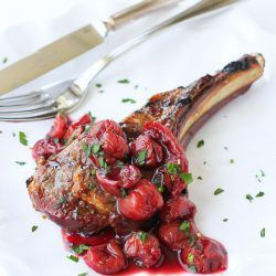 Grilled Lamb Chops with Tart Cherry Sauce