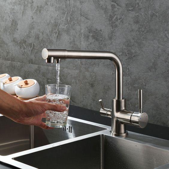 Wasserfilter 3 Wege Armatur Küchenarmatur für Osmose Anlage System - armatur küche ausziehbar