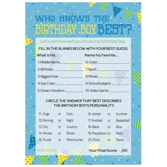 Who Knows the Birthday Guy the Best This or That Game Instant Download 90th Birthday Party Game