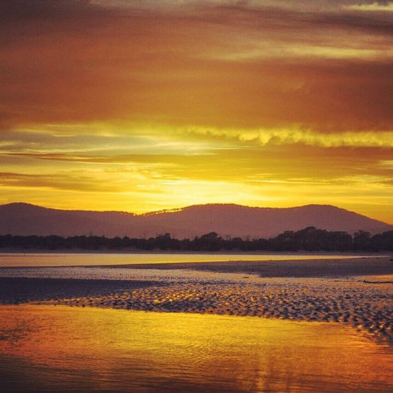 #Sunrise, #Mountains, #water, #beach. #Photography by Nathan Nyhuis