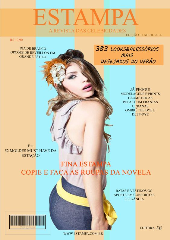 "Capa da revista ""Estampa"""