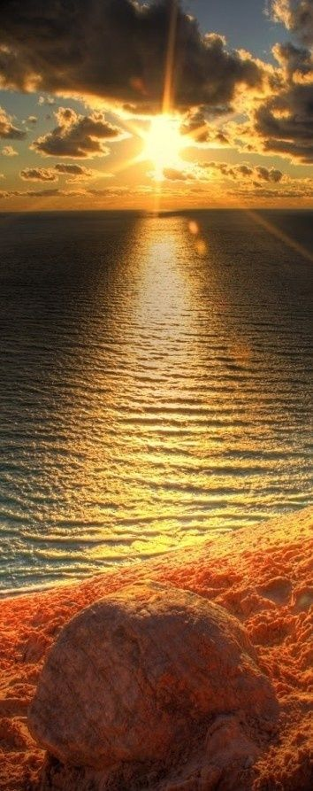 Amazing Sunset on the Beach: