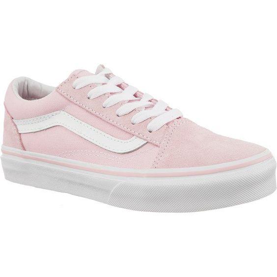Trampki Dla Dzieci Vans Vans Rozowe Old Skool Suede Canvas Q7k Chalk Pink True White White Vans Vans Vans Old Skool