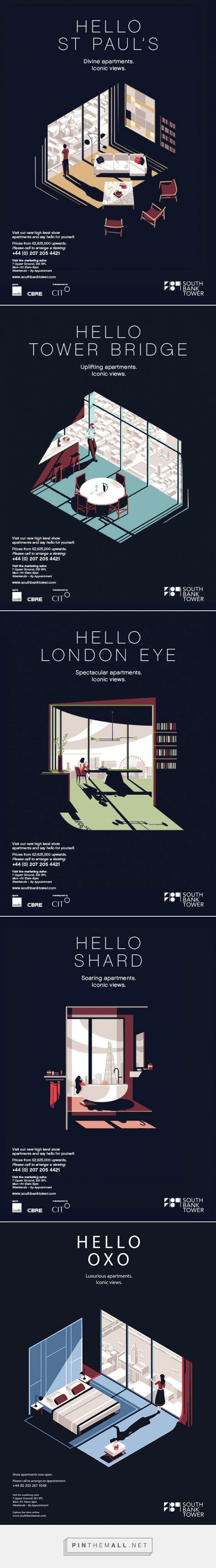 It's Nice That   Tom Haugomat's cinematic posters for luxury apartments in a Southbank high-rise