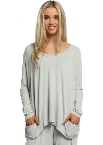A Postcard From Brighton Bone Melange Pammy Slouch Jersey Top