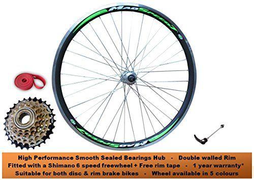 Qr 26 Mountain Bike Mtb Rear Wheel Disc Rim Brake Shimano 6