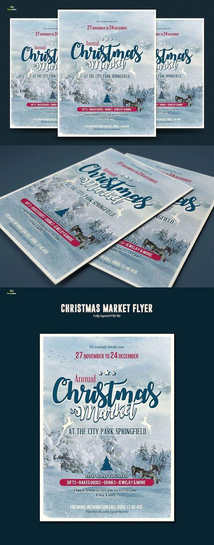 christmas market flyer formats christmas market flyer 2 formats flyer templates 7 00