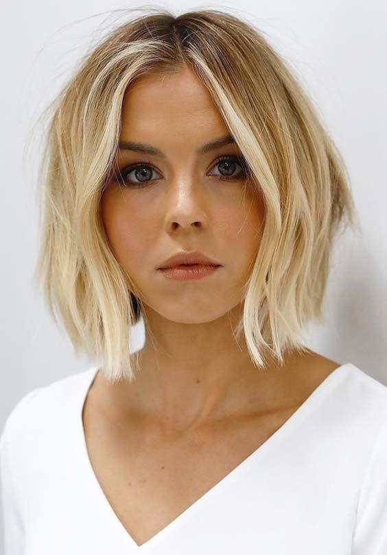 30 Attraktiv Aussehendes Gesicht Frisuren Fur Frauen Bob Frisur Blonder Bob Bob Frisuren Blond