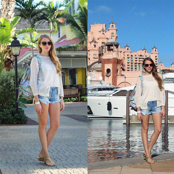 Backpack, Studded Shorts, Sunglasses