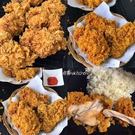 Resep Ayam Goreng Super Crunchy Super Krebo Oleh Tinakitchen Resep Resep Ayam Ayam Goreng Resep Makanan