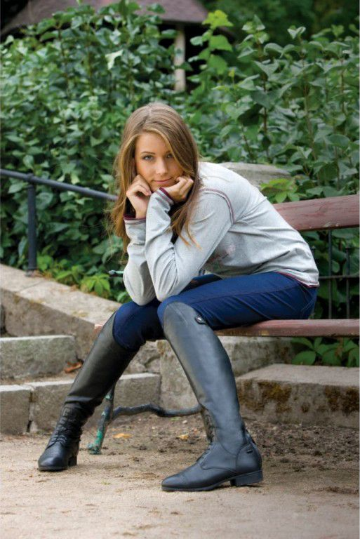 woman in riding boots