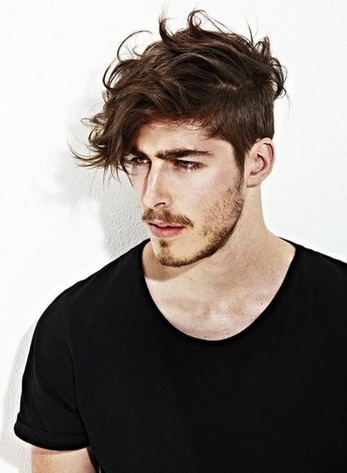 Classy and Unique Medium Top Mens Hairstyles Undercut 2014 with Side Wind,Swept Effect