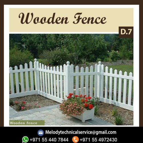 Picket Fence Abu Dhabi Wooden Fence Garden Fence