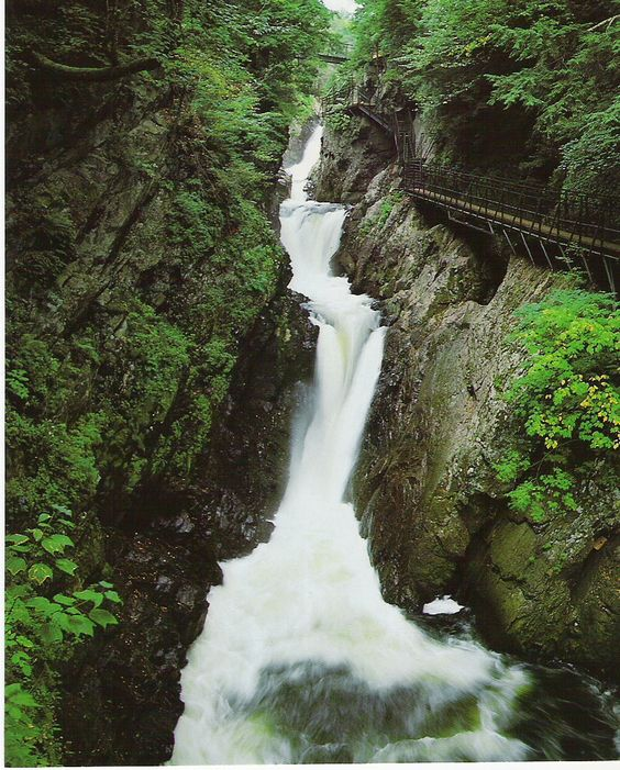 High Falls Gorge in Lake Placid, NY